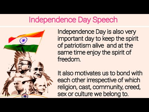 Independence Day Speech in English 2019 | 15 August Speech