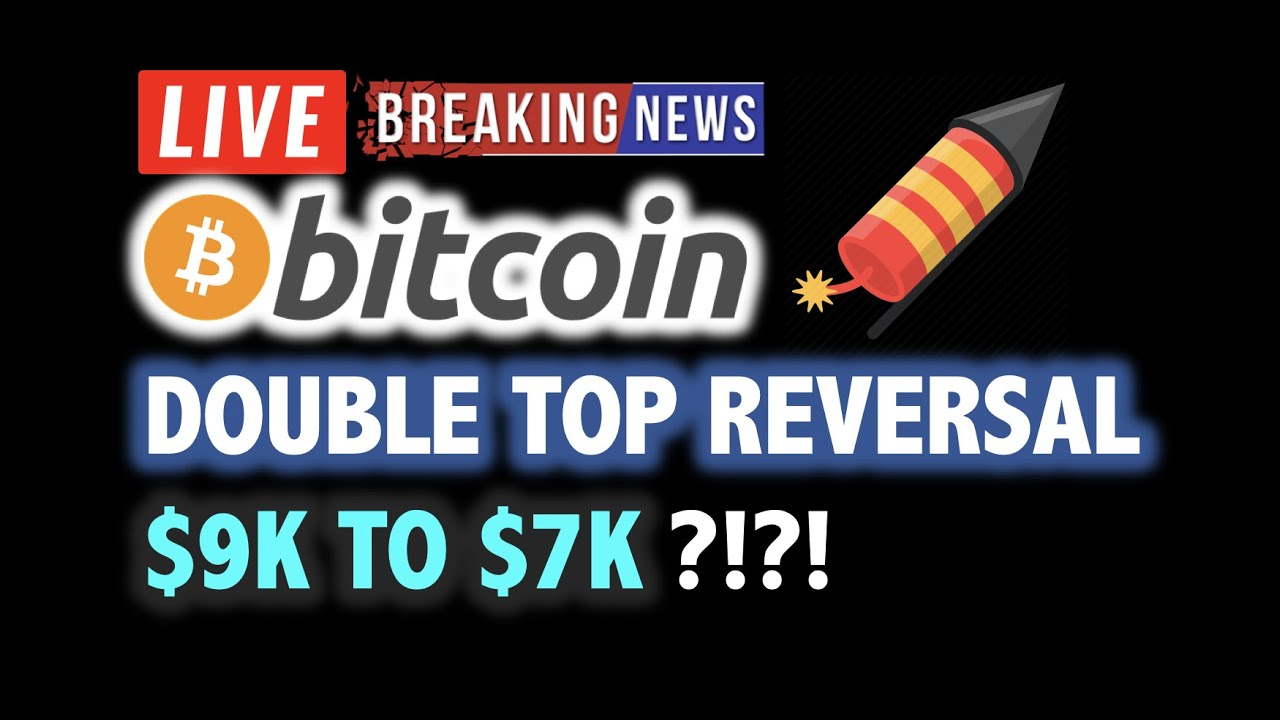BITCOIN DOUBLE TOP REVERSAL WARNING?!