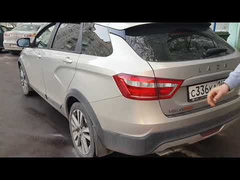 LADA VESTA SW CROSS продолжение обзора багажника и раскладка задних сидений.