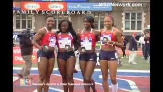 Penn Relays 2012 - U.S. Women 4x100 Post Race Comments