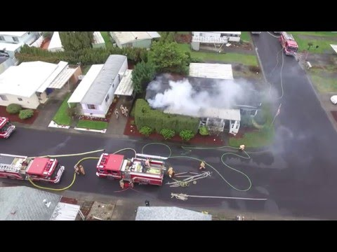 2 Alarm Residential Structure Fire from a Drone Salem Fire Department Flashover