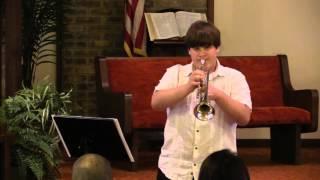 Special Trumpet & Piano Medley- Jacob & Rhonda 8-29-15