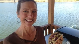 San Diego Grilled Trout Tacos At Santee Lakes Recreation Preserve - Rv Cooking Show