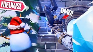 SNOWFALL FIRE KING IS BIJNA VRIJ!! GRAPPIGE SNOW MAN MOMENTEN! Fortnite Battle Royale