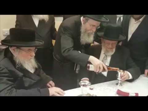 Belzer Rebbe Visiting Dayan Chanoch Ehrentreu In London, England