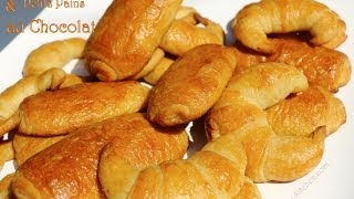 Recette De Croissants,petits Pains Au Chocolat Maison/homemade Crescent,petits Pains With Chocolate