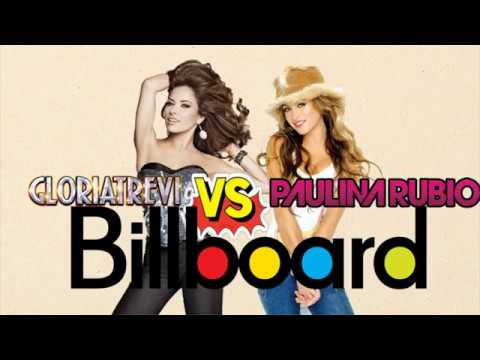 "Gloria Trevi Vs Paulina Rubio - Billboard ""Hot Latin Songs"""