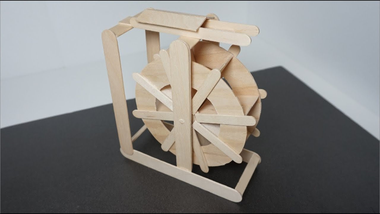 Diy How To Make Popsicle Stick Water Wheel Craft Ideas Miniature