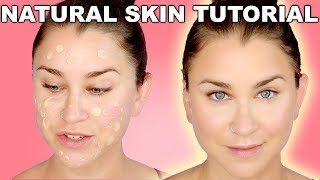 NATURAL SKIN FOUNDATION ROUTINE-DRY/NORMAL/COMBINATION SKIN! | Beauty Banter