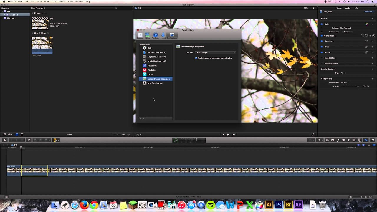 How to Extract and Export Frame From .mov   Final Cut Pro X - YouTube