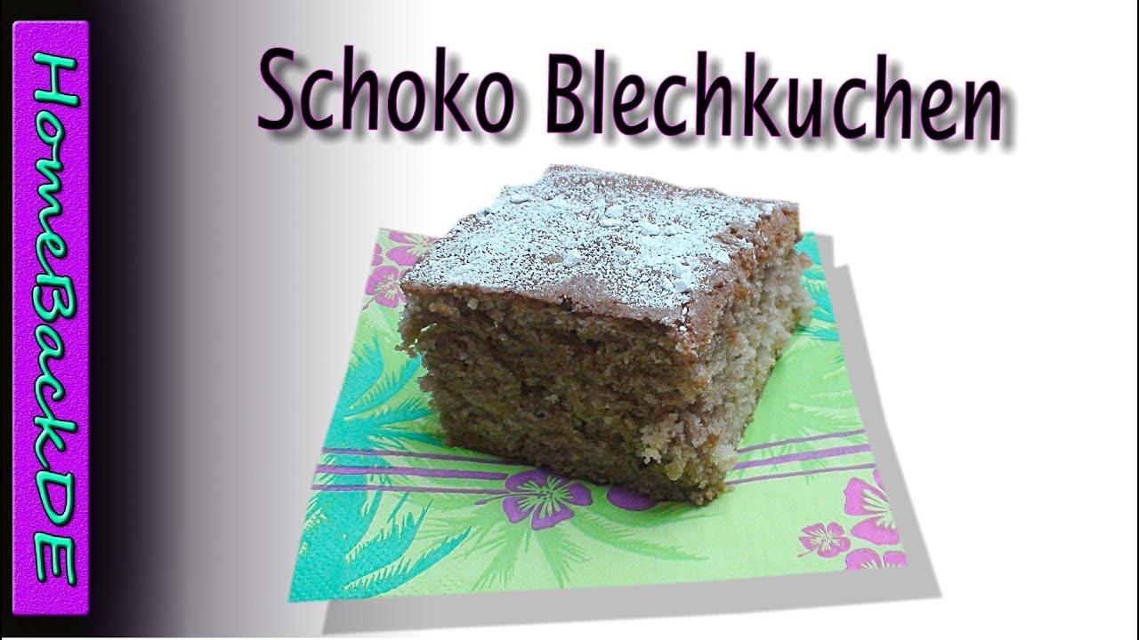 Schoko blechkuchen mit zimt
