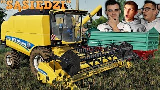 "Żniwa Nowym Kombajnem! New Holland TC 590 + Farmtech!  ☆ ""Sąsiedzi"" ☆ FS19 #29✔ MafiaSolecTeam"