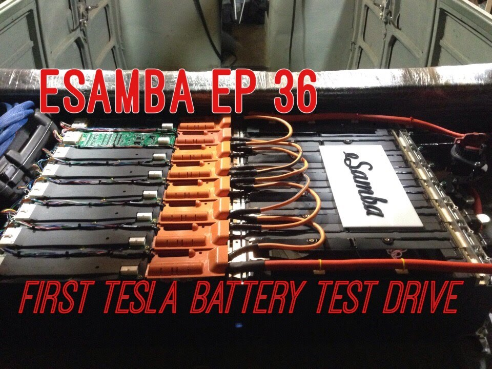 18650 Tesla Battery Drive Test Esamba Diy Ev Conversion