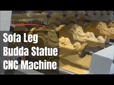 Sofa Legs & Buddha Profile Engraving BY OMNI 12S CNC Router