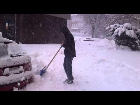 Snow Ostrava czech republic 31,3,2012