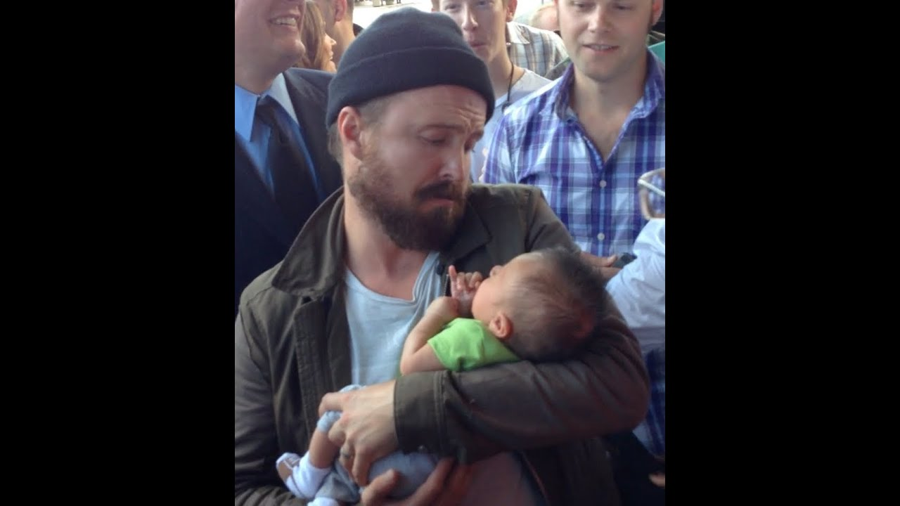 Aaron Paul with a BABY! - YouTube