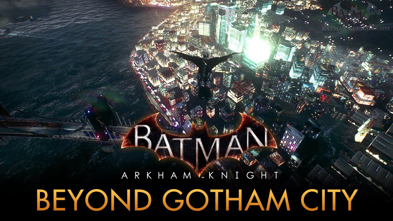 Batman Arkham Knight Map Batman: Arkham Knight   Out of the Game's Map [PC Mod]   YouTube