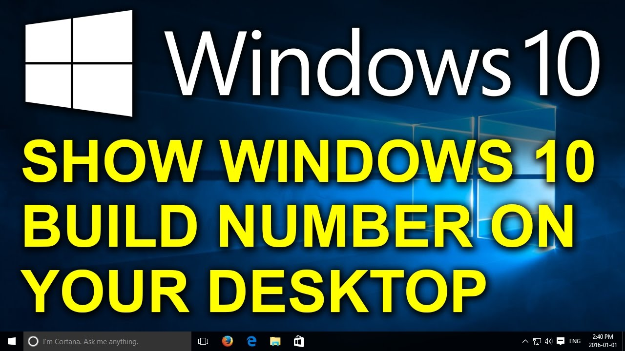 how to find windows build number