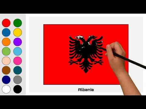 Flag of Albania - Europe