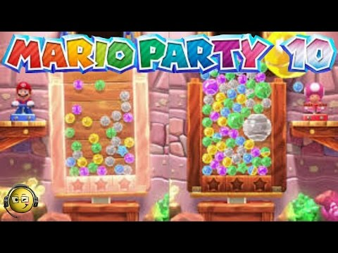 Let's Play Mario Party 10: Bonus Games- Badminton Bash, Jewel Drop, & Bowser Jr!