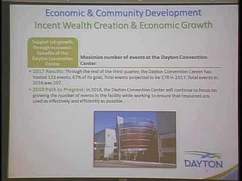 Dayton City Commission 2018 Budget Work Session #3 - Economic & Community Development