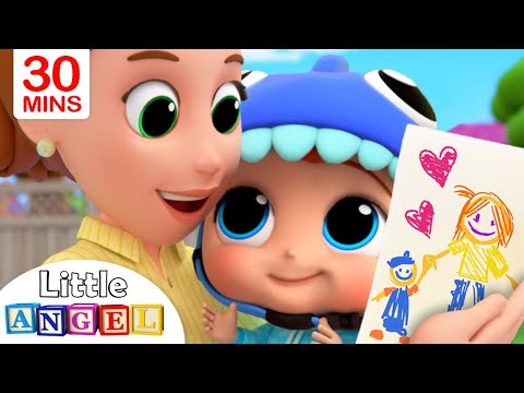 Смотреть Mommy, Mommy I Love You | Little Angel Kids Songs & Nursery Rhymes онлайн