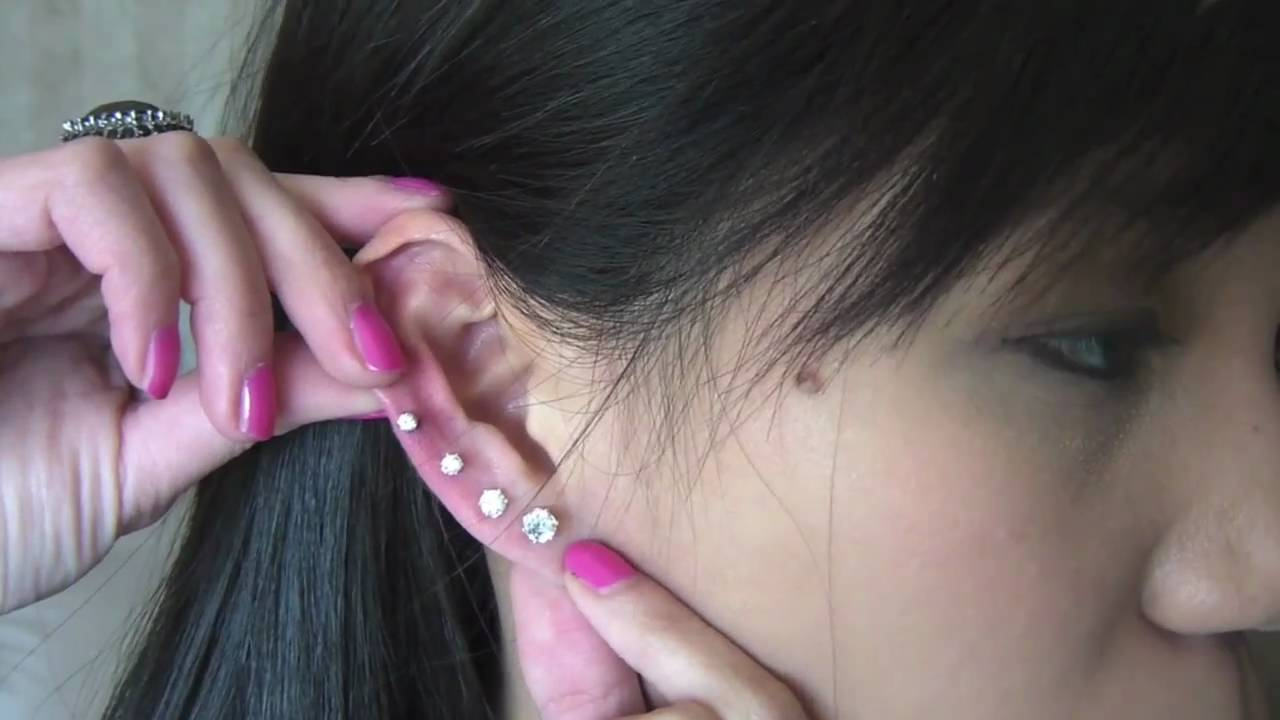 How To Pierce Your Ears Youtube