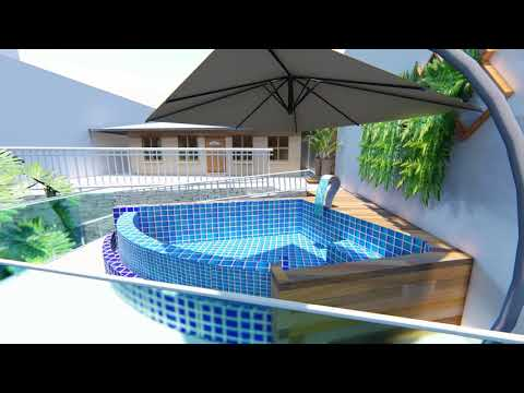 Maquete 3D - Piscina - Bela Vista - Nova Friburgo