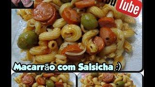 Macarrão de Salsicha com Déby & Ian :)