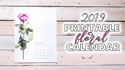 Our Floral 2019 Free Printable Calendar for You!