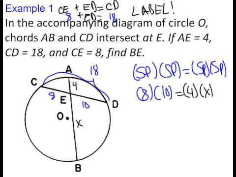 circle segment formulas lesson youtube