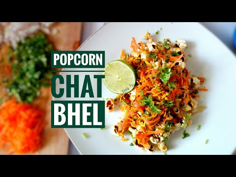 Popcorn Chat/Popcorn Bhel, Cooking Without Fire Recipes, Easy Chat Recipe