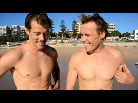 Bondi Rescue's Adriel 'Bacon' Young and Andrew 'Reidy' Reid Interview after Wollongong swim