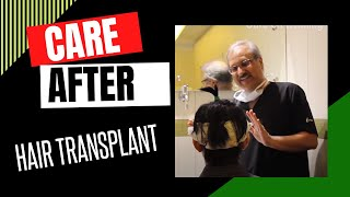 Care after  hair transplant in India at Darling Buds Clinic