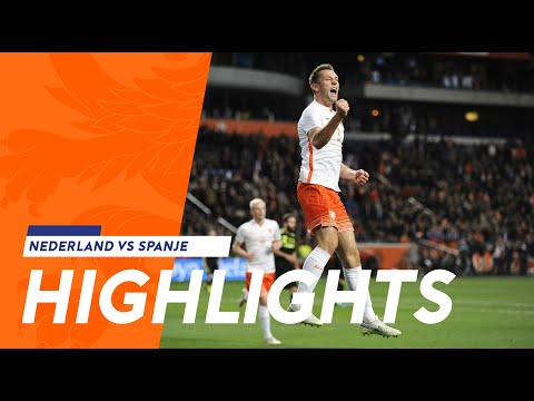 Highlights Nederland-Spanje 2-0 31-03-2015