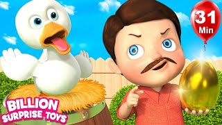 Bed Time Story Duck And Farmer | +More Nursery Rhymes & Kids Songs | Learn with BST