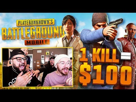 1 KILL = $100 CHALLENGE WITH TEAM ALBOE!! PUBG MOBILE!