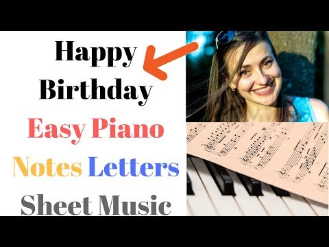 Happy Birthday Piano Sheet Music and Video for Beginner Students