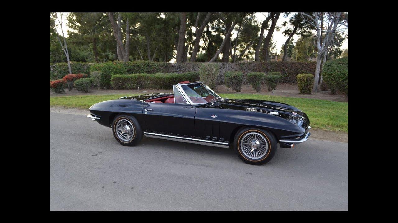 Sold 1965 Chevrolet Corvette 327 365hp Convertible Black