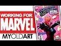 WORKING FOR MARVEL COMICS!  MY OLD ART!