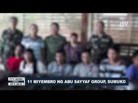 11 miyembro ng Abu Sayyaf Group, sumuko