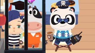 Приключения Dr. Panda в городе. Полицейский ПАНДА ловит преступников в игровом мультике для детей