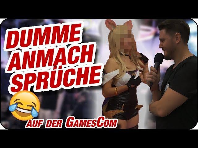 DUMME ANMACHSPRÜCHE IM TEST auf der Gamescom, Teil 2 (Achtung: FREMDSCHÄMEN! 🤦)