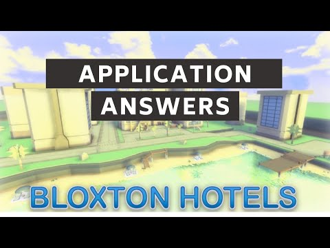 Roblox Hilton Hotels Questions Bloxton Hotels Application Answers 2020 Roblox Youtube