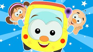 Wheels On The Bus Go Round And Round | Popular Nursery Rhymes for Kids | HooplaKidz TV thumbnail
