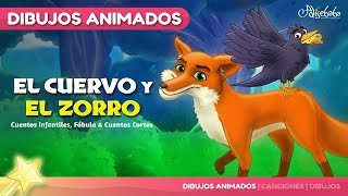 El Cuervo y el Zorro animado (The Fox and the Crow) | Cuentos infantiles para dormir