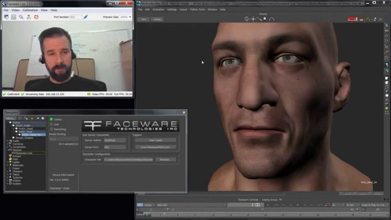 Real time facial animation