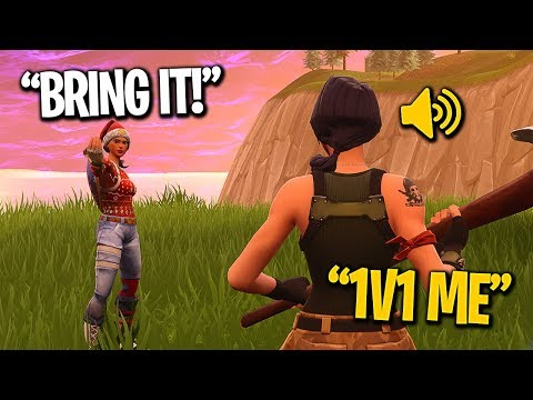 KID CALLS ME OUT TO 1v1 FOR A FRIEND REQUEST! (Fortnite Battle Royale Playground)
