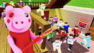 100 Players RAID Roblox PIGGY!