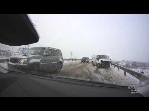 ДТП рядом с мостом через р. Угра, Калужская область, 02.12.2016